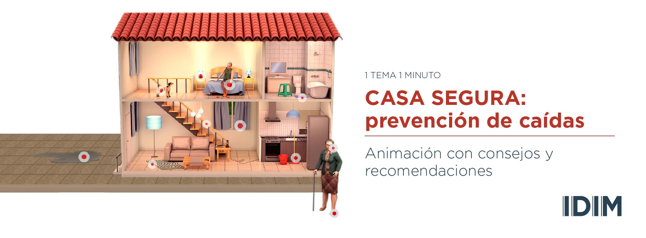 Animación con consejos sencillos para disminuir el riesgo de caídas