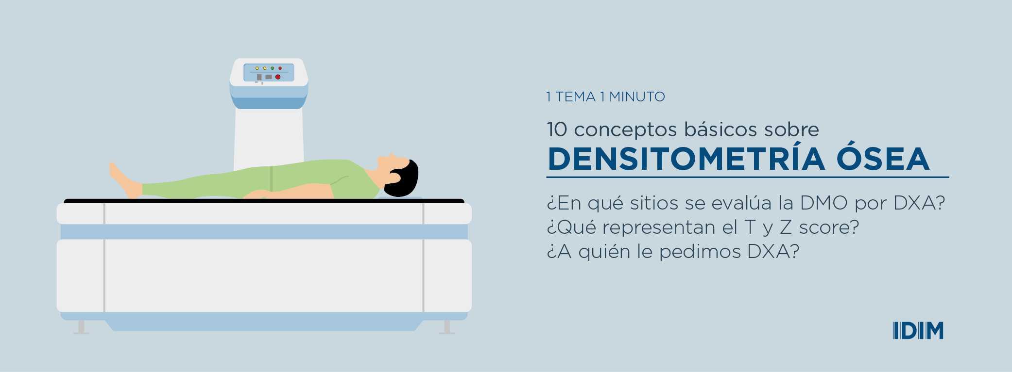 10 conceptos básicos de la densitometría ósea